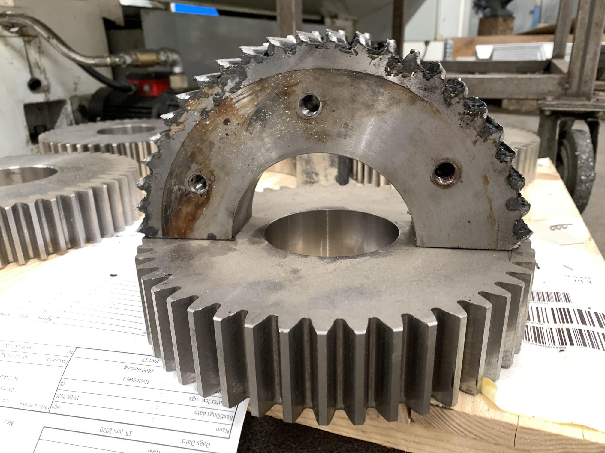 Komponentproduktion af tandhjul
